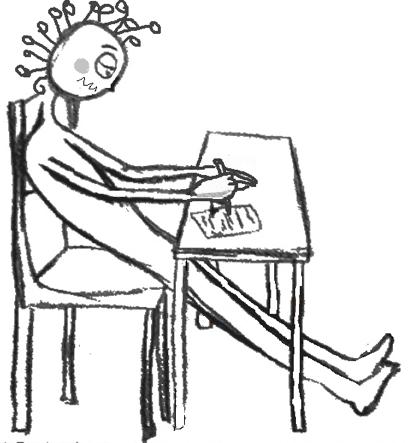 Enfant assis jambes tendues